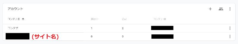 ⓪-1 アカウントの「+」からコンテナを新規作成(1ドメインで1コンテナが基本っぽい)